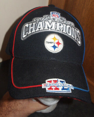 Pittsburgh Steelers 2005 Conference Champions Super Bowl 40 Reebok Hat Cap  NFL 64a313fb9