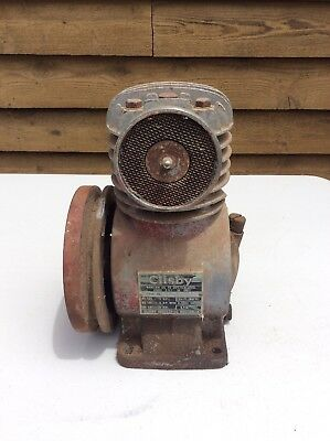 Vintage Clisby Air Compressor Motor; Engine; Old Industrial Motor; Collectable