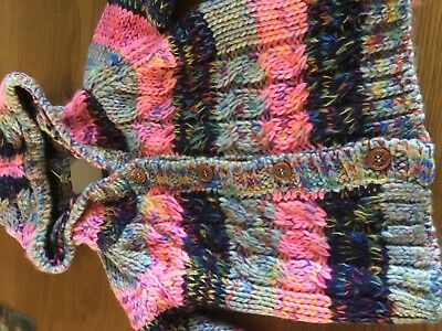 Next Baby Girls Chunky Knit Cardigan Age 12-18 Months New