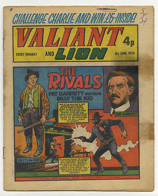 Valiant 8th June 1974 (mid-grade copy) Adam Eterno, Robot Archie