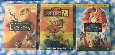 The Lion King 1,2,3 Trilogy 6-Disc DVD Movie Trilogy Collection Bundle