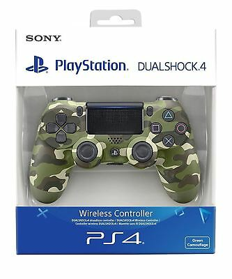 Sony Official PlayStation 4 Dualshock Controller V2 Green Camo PS4 New Sealed