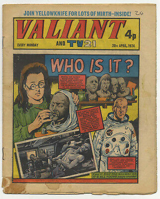 Valiant 1st June 1974 (mid-grade copy) Adam Eterno, Robot Archie, Swots & Blots