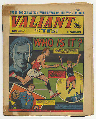 Valiant 4th Aug 1973 (mid-grade copy) Star Trek, Steel Claw, Billy Bunter
