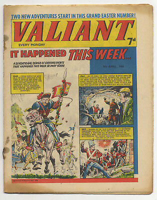 Valiant 9th April 1966 (mid-high grade copy) Steel Claw, Mytek, Kelly's Eye
