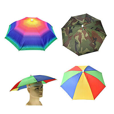 BL_ Outdoor Foldable Sun Umbrella Hat Golf Fishing Camping Headwear Cap Head Hat