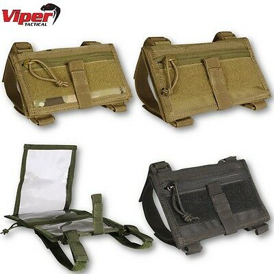 Viper Tactical Wrist Case Map Document Army Military Hiking Navigation Pouch