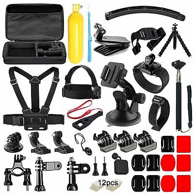 50-In-1 Action Camera Accessories Kit For GoPro Hero Video Cam Mount Tripod Bag