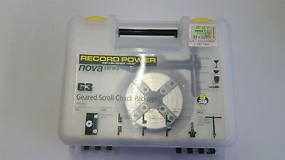 "Record Power Nova Series G3 Geared Scroll Chuck Package 1"" x 8 TPi"