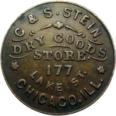 1861 Chicago Illinois Civil War Token C & S Stein