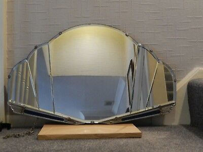 2 x  Art Deco style Frameless Mirrors 1930s / 40s