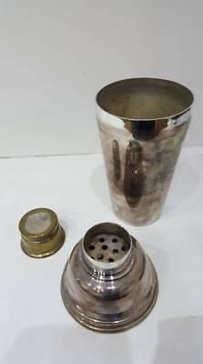 VINTAGE Art Deco 1930's SILVER PLATED COCKTAIL SHAKER ANGORA 1 PINT
