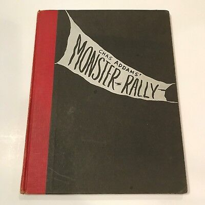 RARE Old Vintage Copyright 1950 Chas Addams Monster Rally Book Addams Family