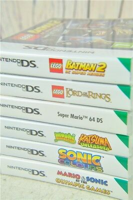 Nintendo DS Games Bundle x6 Games In Cases Super Mario Lego Batman Sonic