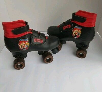 Vintage 1985 HE-MAN Masters Of The Universe Roller Skates Kids Size 13 Mint Con