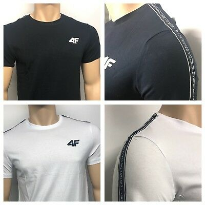 Men's 4'F Crew Neck Short Sleeve T-Shirt ** Sporty Stylish 4 Colours