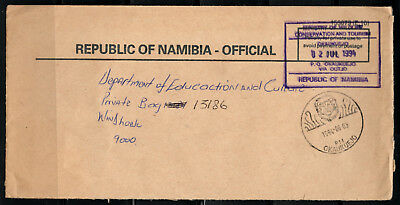 Namibia 90s Official Cover Okaukuejo 03.08.1994 Ministry of Wildlife Lion Cancel