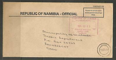 Namibia 90s Official Cover Rundu 05.03.1990 Ministry of Justice Magistrate