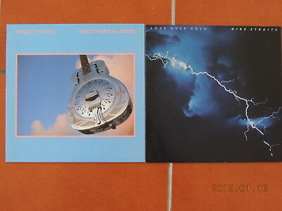 Dire Straits: Brothers in Arms LP 1985 und Love over Gold 2 LPs