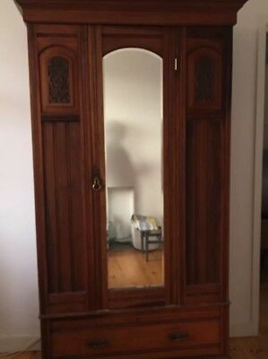 Edwardian Wardrobe with mirror and drawer