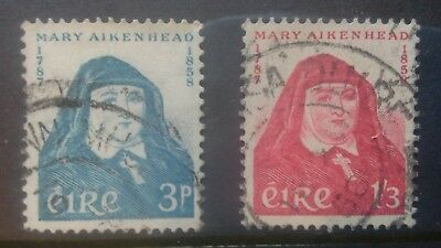 ireland 1958 SG 174/5 set to 1/-3d, Death Cent Used.
