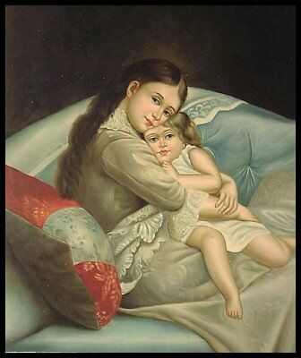 """Mother and Child, 24""""x20"""" Oil Painting on Canvas, Genuine hand painted"""