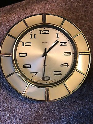 vintage metamec wall clock Retro Mcm 1960s 1970s