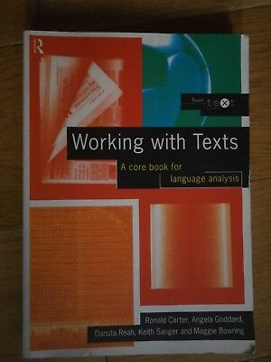 Working With Texts - A core book for language analysis Routledge