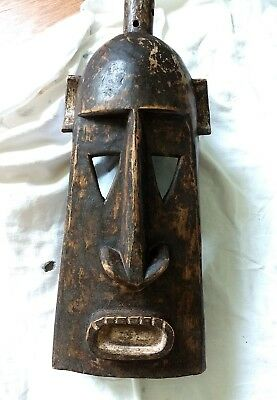 AFRICAN ART MASK DOGON Hand Carved Authentic From MALI