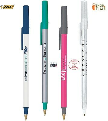 BIC Round Stic Pen Printed With Your Company Information / Logo / Text  500 QTY