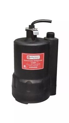 UtiliTech #0094086 Non-automatic Submersible Pump- Utility, 1/3 HP, 25 gal/min.