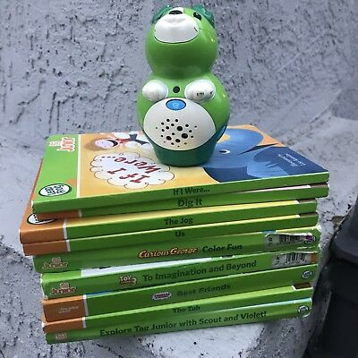 LEAPFROG TAG JR READING SYSTEM SCOUT READER and 9 BOOK LOT