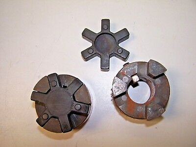 "2) New Lovejoy L-095 Coupling 1"" With Black Spider Coupling Inserts Lot Of 2"
