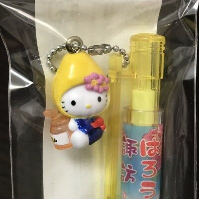 Hello Kitty Ballpoint pen SUWA-Chinese quince 2009 with gotochi charm from Japan