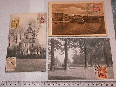 Lithuania postcards with marks and stamps 1925-1926