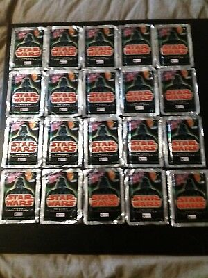 20 X Sealed Packs Of Star Wars Trilogy Trading Cards job lot