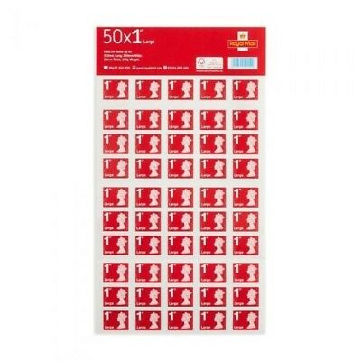 100 x 1st class Royal Mail large letter stamps (2 sheets of 50 large stamps)