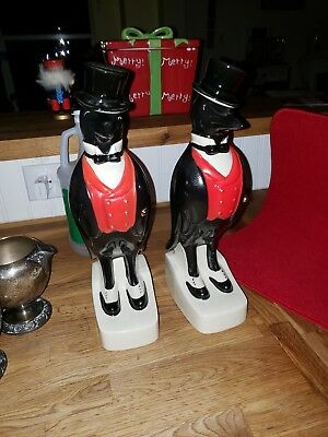 2 Old Crow whiskey decanters.  Pre 1970, excellent condition