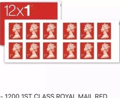 60 x Royal Mail 1st First Class Stamps - 5 books of 12 stamps - Free Postage