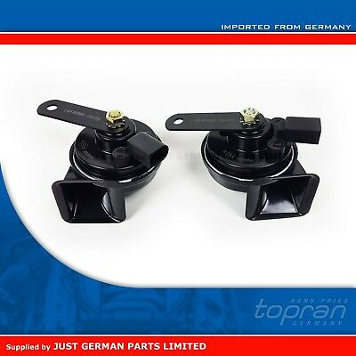 High & Low Tone Horns Signal Klaxons Pair Set for VW Golf MK5 MK6 Jetta Scirocco