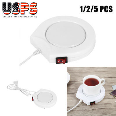 Electric Tray Coffee Tea Drink Warmer Cup Heater Beverage Mug Pad Office 110V