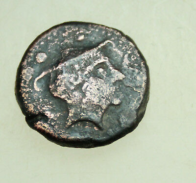 Roman Republican Anonymous c. 217-215 BC. Rome  AE22mm. Head of Mercury / Prow