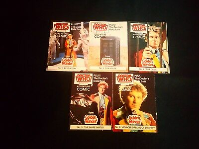 Doctor Who Golden Wonder Marvel Adenture Comic's  x 5  (1986)