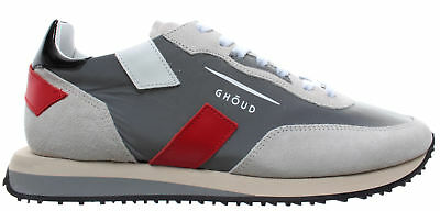GHOUD Venice Men s Shoes Sneakers Rush Low Nylon Reflex Leather Grey Black  New a0d031a79f9
