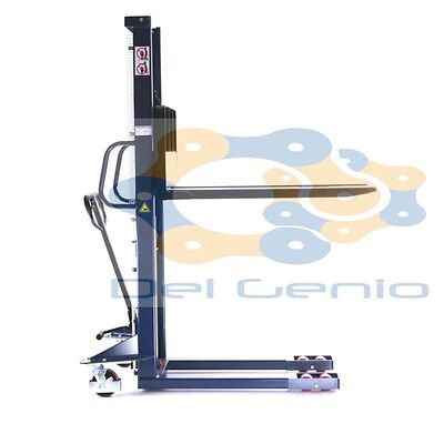CARRELLO ELEVATORE SOLLEVATORE PALLET TRANSPALLET 1000 Kg H 3000 MM sped. immed.