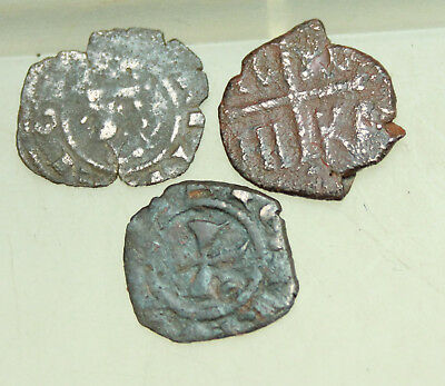 Lot of 5x Medieval Coins Italy D= 15mm