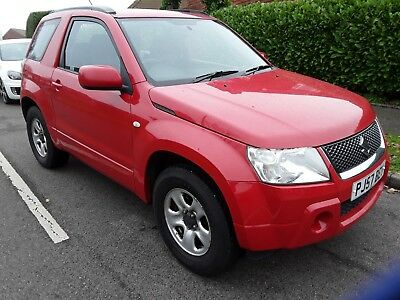 2007 57 Suzuki Vitara 1.6 Vvt 3 Door Manual Red,grey Cloth,4 X 4, Air Con,