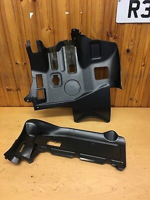 BMW E46 3 series Saloon Pair of Black Footwell Knee Roll Kick Panels