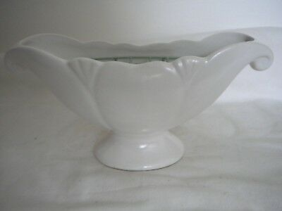 Vintage Arthur Wood Constance Spry Style Mantle Vase in White with Inner Frog