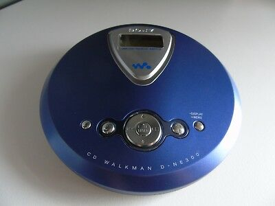 Sony Atrac3plus  D-NE300  cd walkman G-PROTECTION (blue)